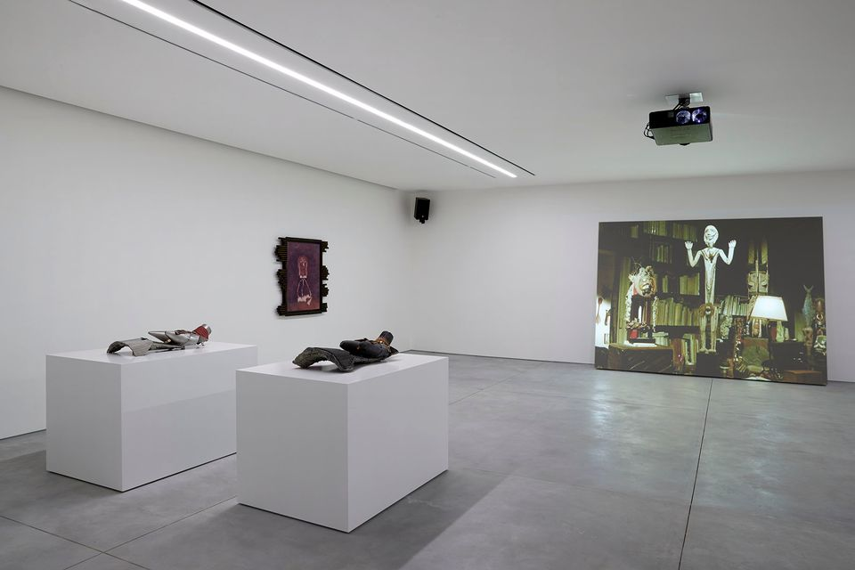 Installation view of Ed Atkins's Trick Brain (2013)