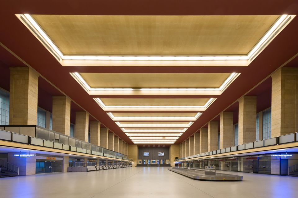 Tempelhof airport's main hall