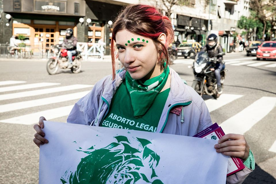 Members of Nosotras Proponemos designed posters to put up around Buenos Aires during the vote on the legalisation of abortion