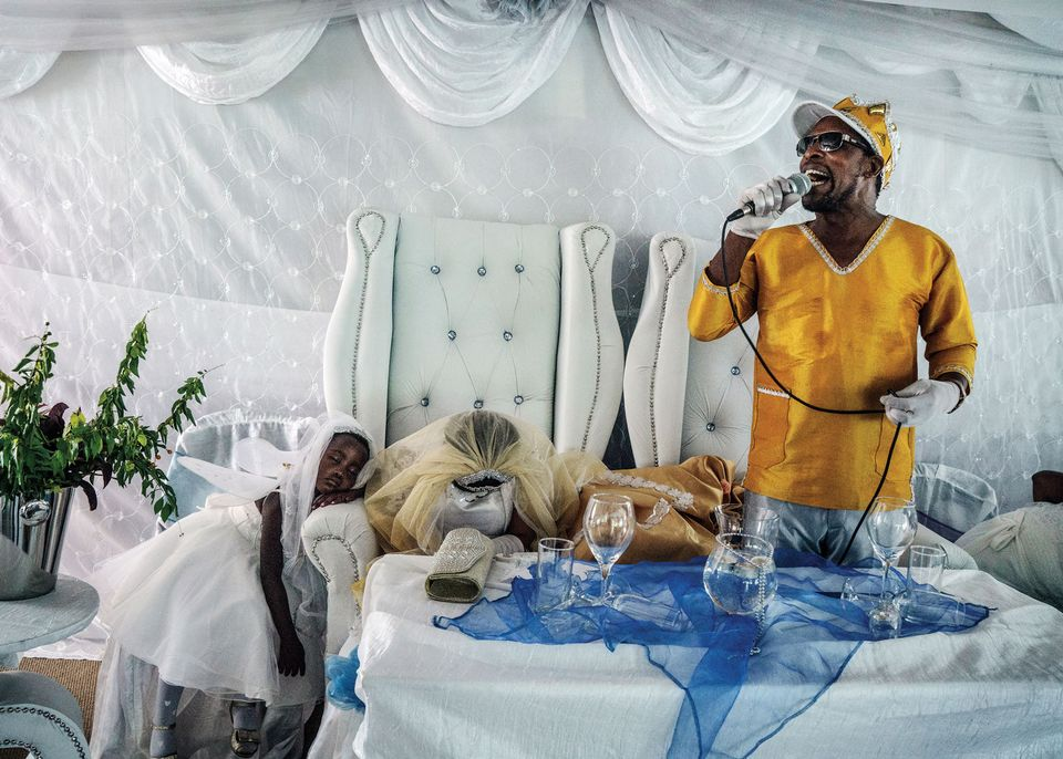 "Moses Hlongwane, otherwise known simply as Jesus, in Jonas Bendiksen's ""The Last Testament."""