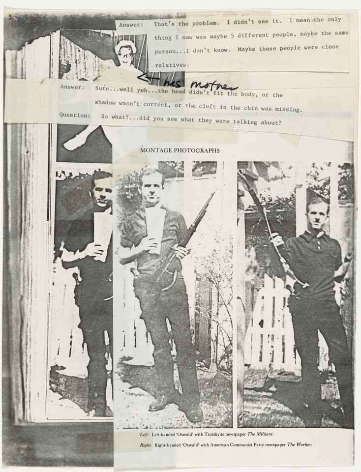 Lutz Bacher, The Lee Harvey Oswald Interview (1976)