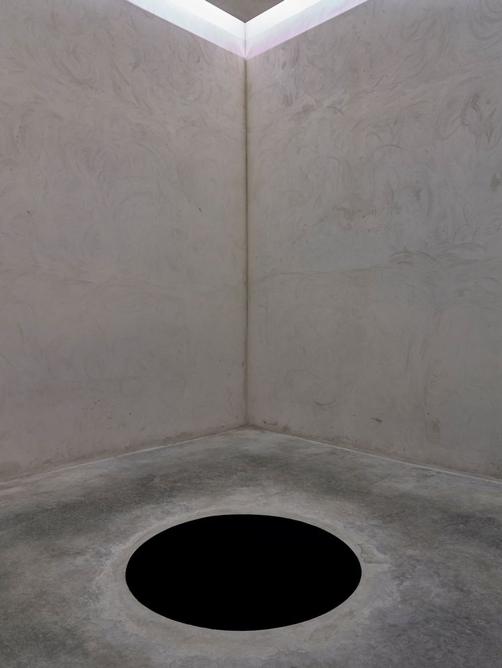 The interior of Anish Kapoor's installation Descent into Limbo (1992)