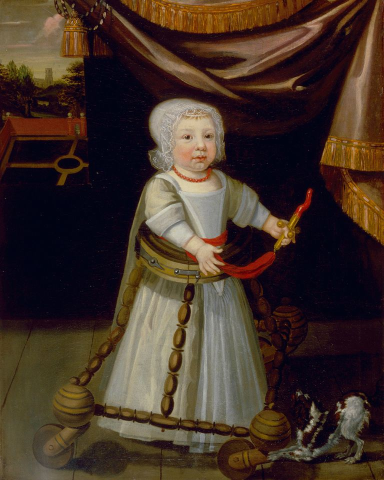 A Boy with Coral (around 1670) by an anonymous English artist