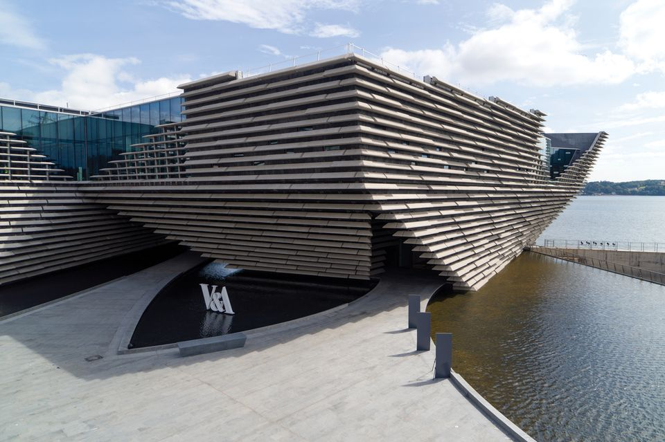 The museum, designed by Kengo Kuma, includes Scotland's largest exhibitions gallery