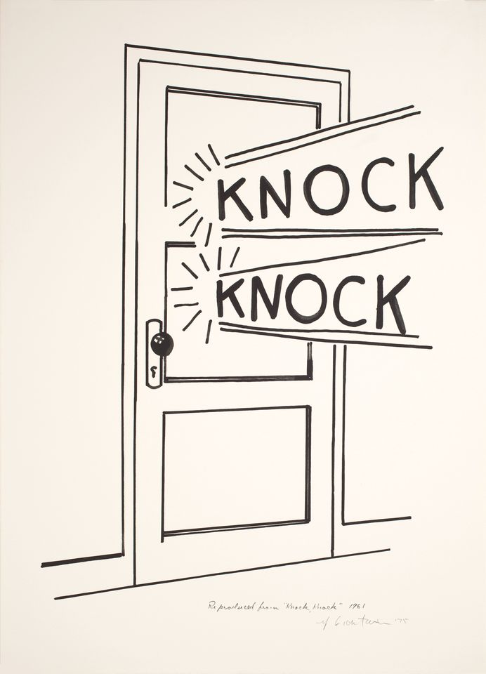 Roy Lichtenstein's Knock Knock Poster (1975) will feature in a group show
