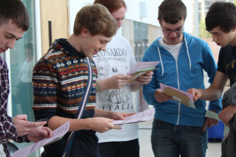 A-level results day at City of Stoke on Trent Sixth Form College