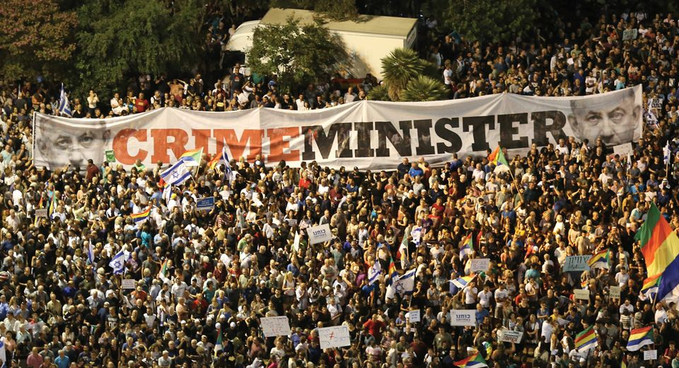 A protest in Tel Aviv against the nation-state law