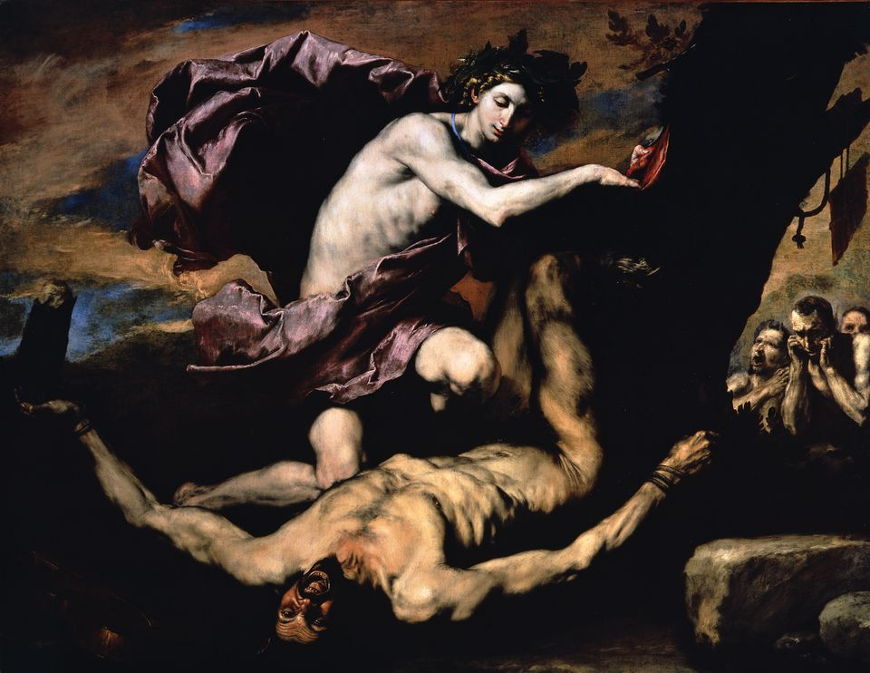 Jusepe de Ribera's Apollo and Marsyas (1637) is on loan from Naples