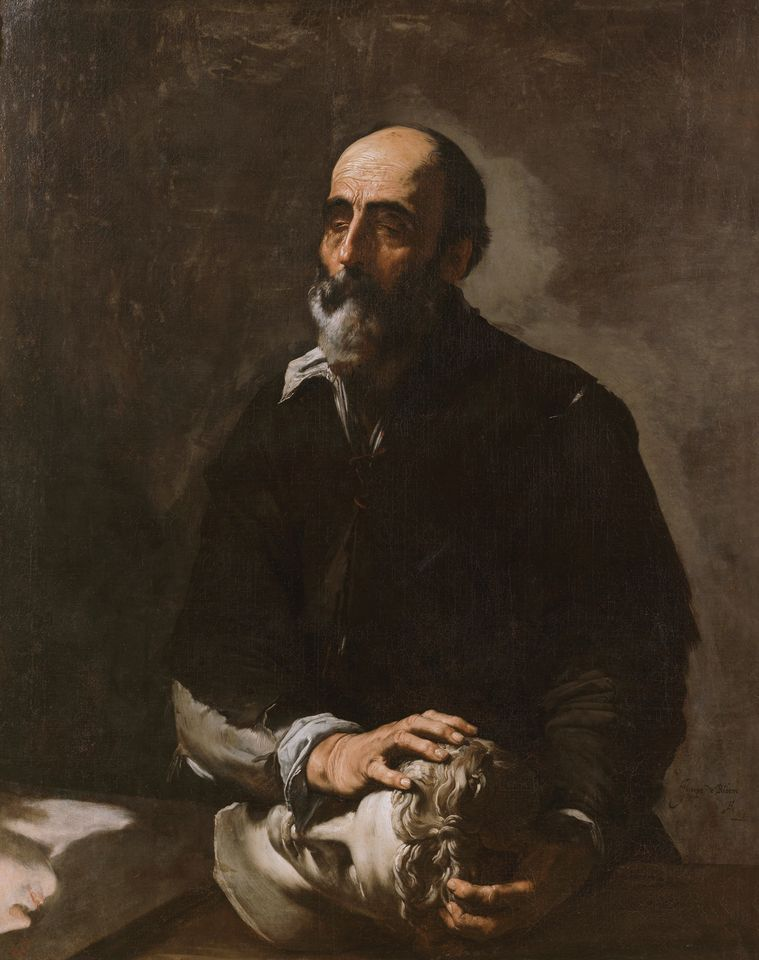 Jusepe de Ribera's The Sense of Touch (1632) with the marble head of Apollo