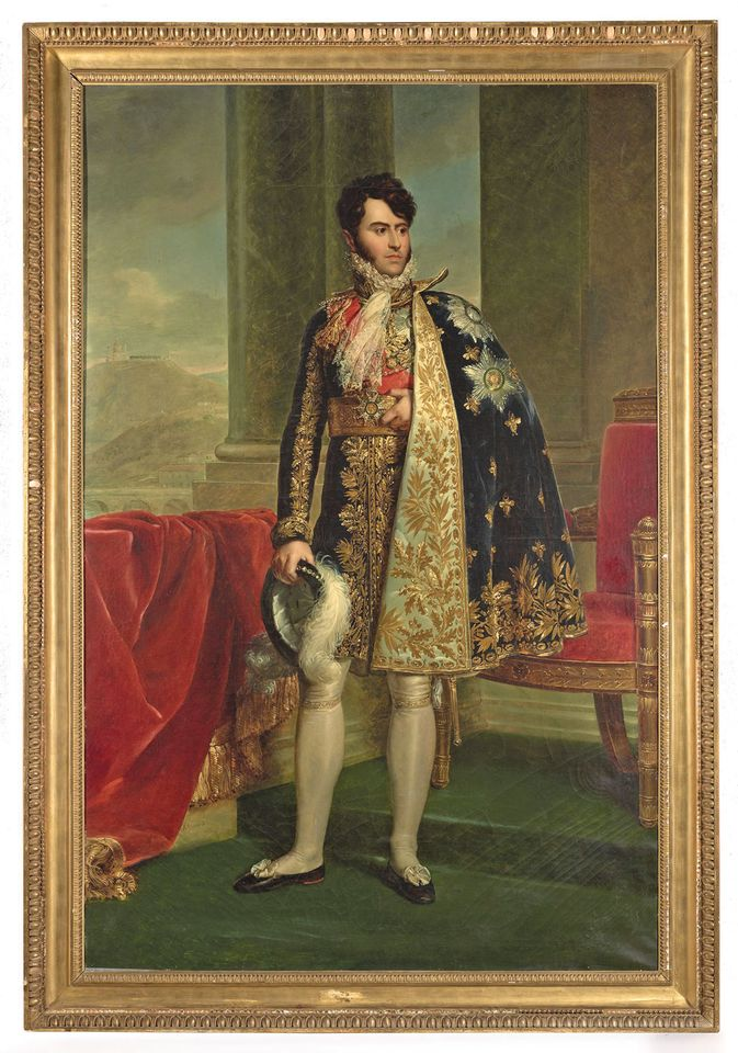 The seven-foot-tall portrait, still in its original frame, is said to be in pristine condition
