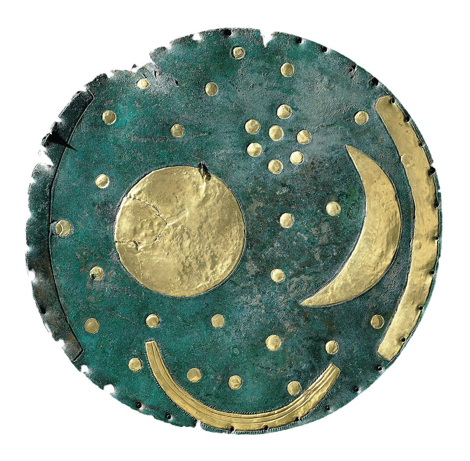 This Bronze Age Nebra sky disc is the the world's oldest known depiction of the cosmos