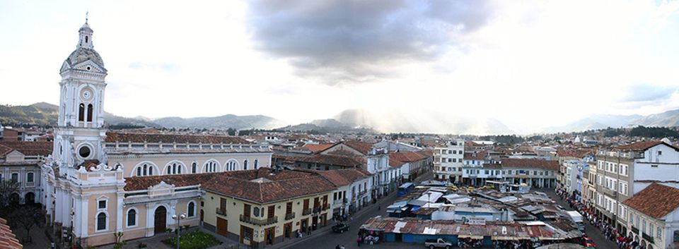 The theme of this year's Biennial  of Cuenca in southern Ecuador is Living Structures.