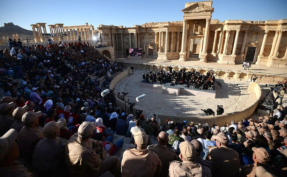 A concert by the Mariinsky State Academic Symphony Orchestra at Palmyra in 2016