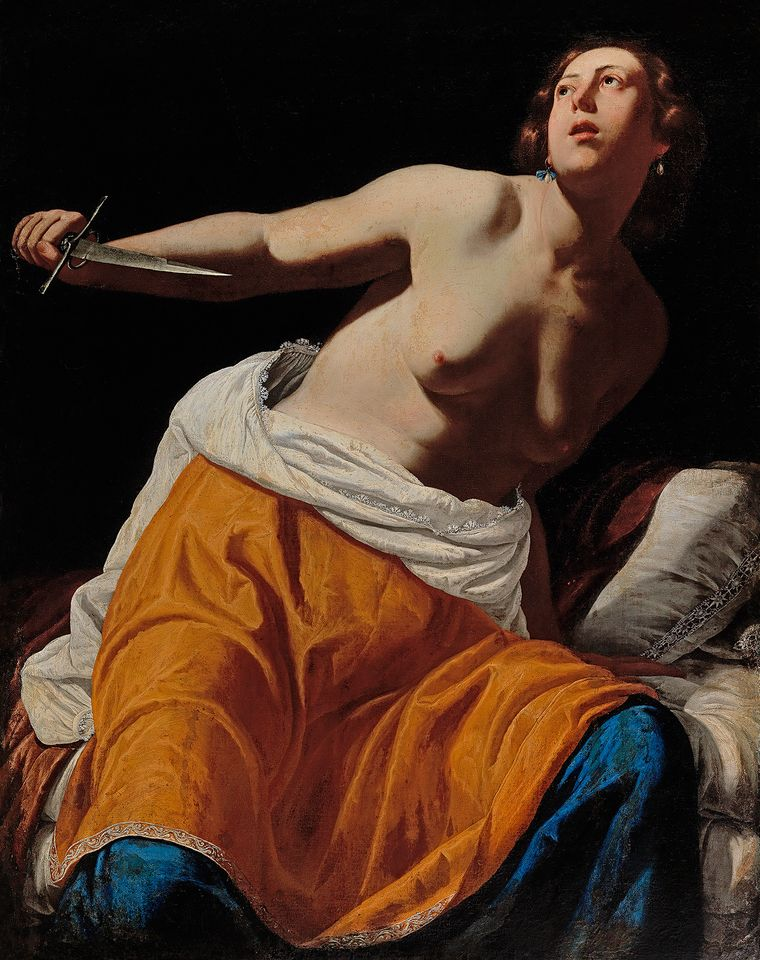 Lucretia, by the female Italian Baroque painter Artemisia Gentileschi, has never before been publicly exhibited