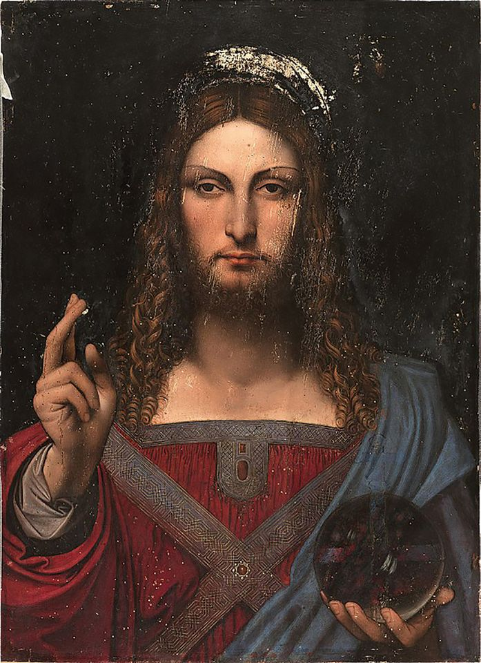 Studio of Leonardo da Vinci: Salvator Mundi (De Ganay version, around 1512)