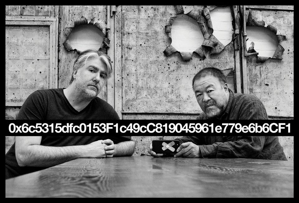 "Kevin Abosch and Ai Weiwei have collaborated on creating unique blockchain addresses as proxies for ""priceless moments"" both artists have shared, with each address validated by a fraction of a Priceless token, which is divisible (and therefore discretely sellable) to 18 decimal places."