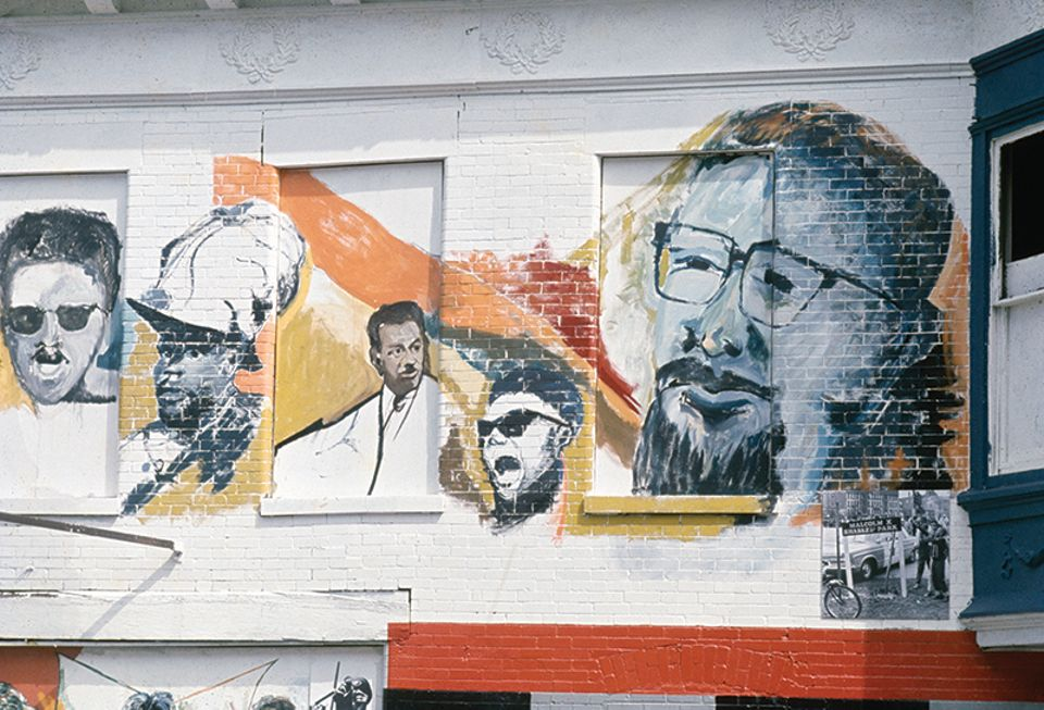 Detail from BAC Visual Artists Workshop's Wall of Respect mural (1967), now destroyed