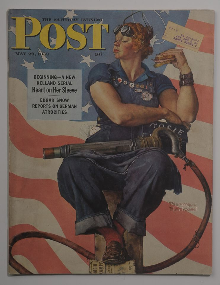 Cover of The Saturday Evening Post, 29 May 1943. Photo courtesy of The International Museum of World War II.