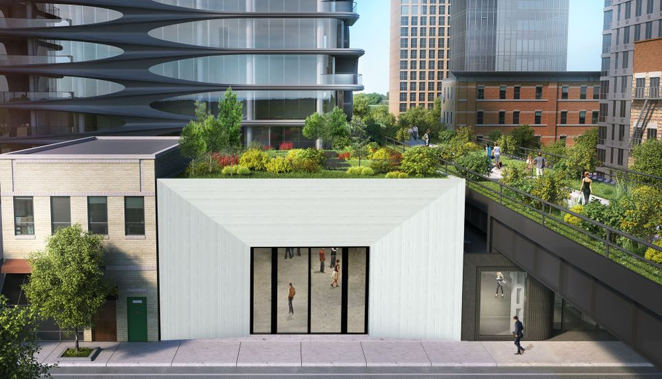 A rendering of Paul Kasmin gallery's fourth Chelsea location opening in October