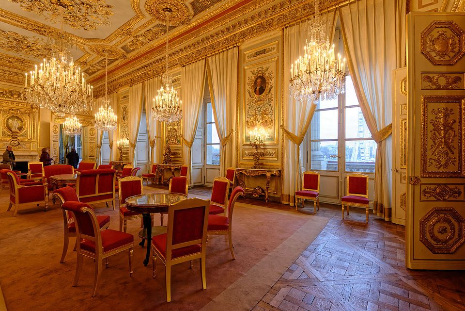 The Salon d'honneur at the Hôtel de la Marine in Paris