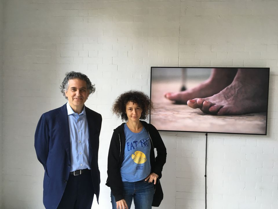 Goldsmiths Professor of Curating Andrew Renton with Mika Rottenberg