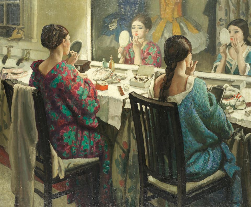 Laura Knight, The Dressing Room, shown by John Iddon Fine Art