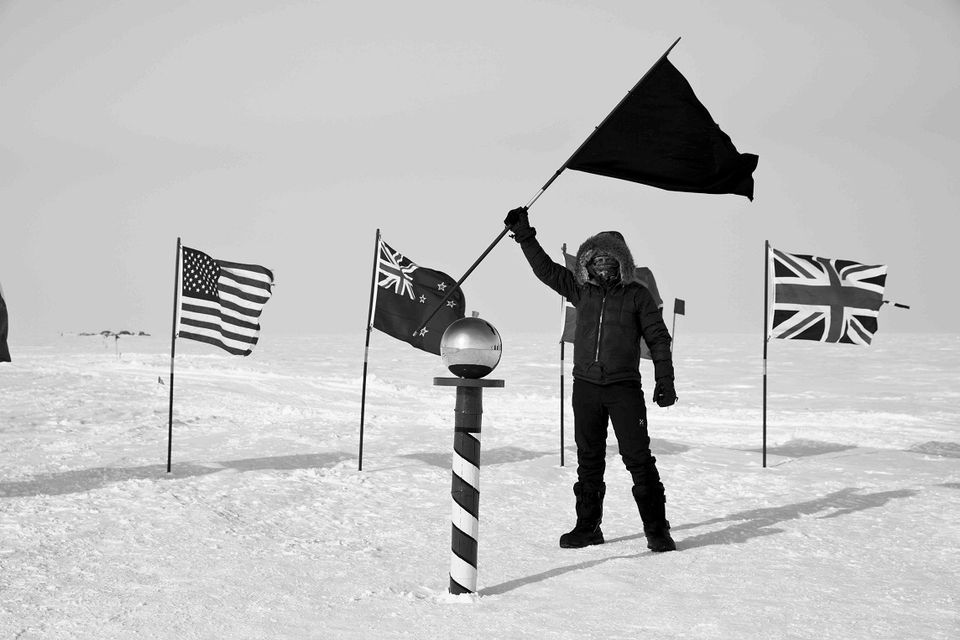 "A new exhibition at Dundee Contemporary Arts shows how the artist Santiago Sierra ventured to the most extreme places on earth—the North and South Poles—where he planted a black flag, which he calls his ""anarchist icon"" (Black Flag, until 25 November). The photography and sound installation reflects how Sierra conceived and created the work in the hostile terrains. ""It is certainly the most beautiful work I have ever done and very poetic,"" Sierra tells The Art Newspaper."