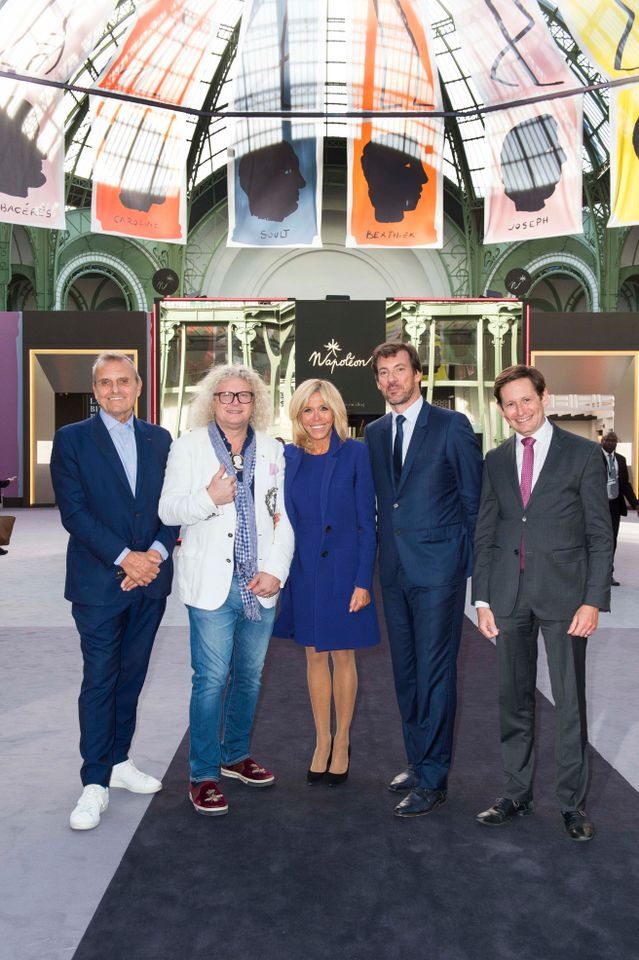 Brigitte Macron was among the guests at the Biennale