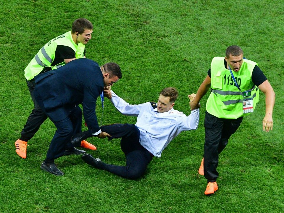 Pyotr Verzilov served a 15-day prison sentence after running with other Pussy Riot members onto the field at Moscow's FIFA World Cup final