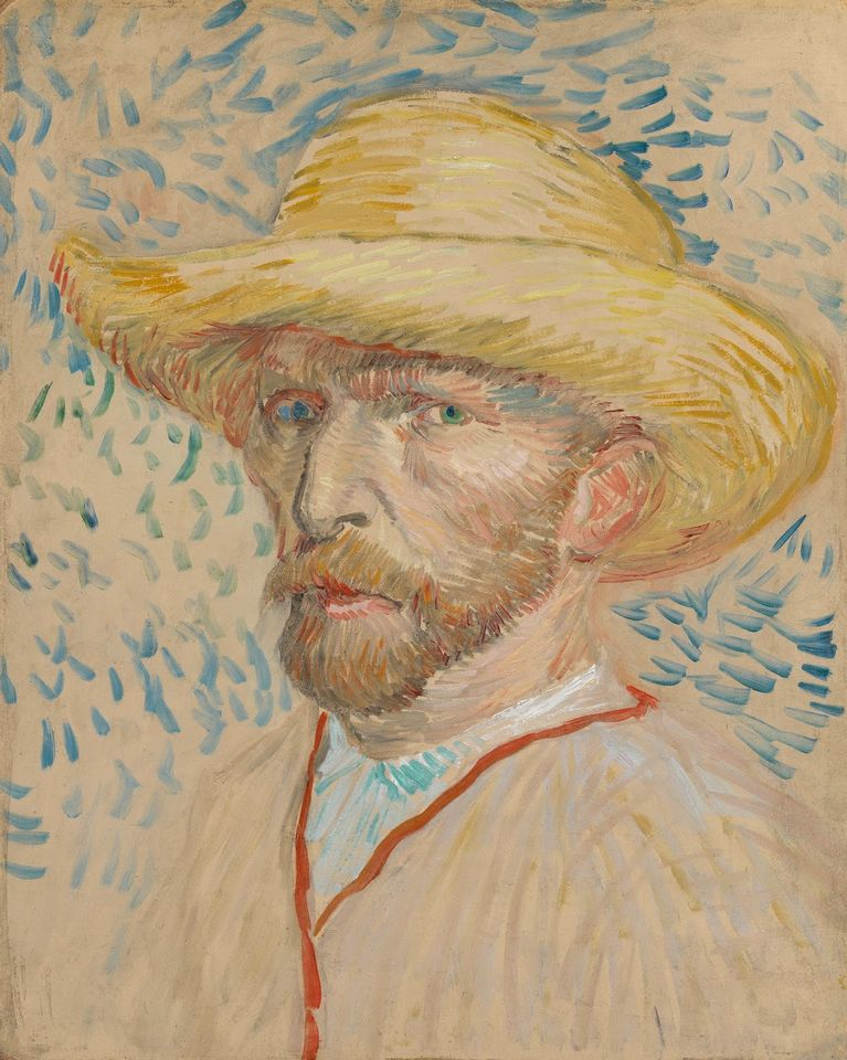 Van Gogh's Self-portrait with straw Hat (August-September 1887)