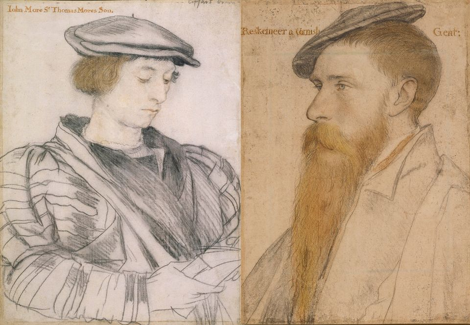 An indication that Charles II was his father's son are these portraits of John More (around 1526-27) and William Reskimer (around 1532-34) by Hans Holbein the Younger. Originally obtained by Henry VIII, they were sold by Charles I to finance his purchase of a Raphael, but were bought back by his son