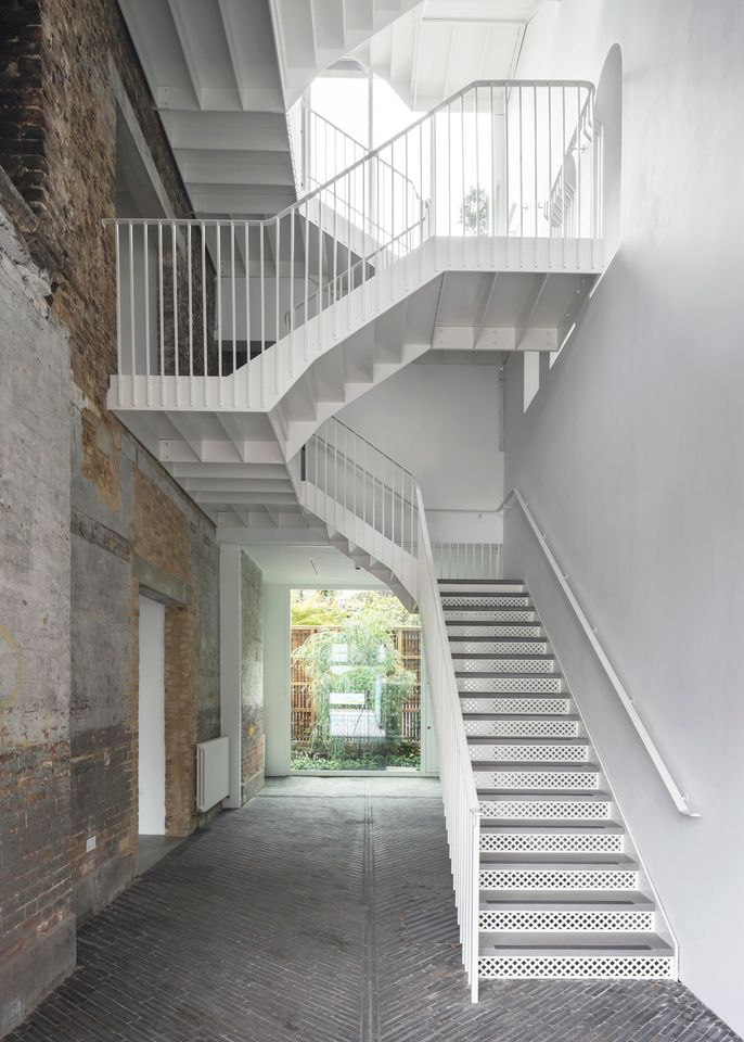 The interior staircase of the new South London Gallery Fire Station