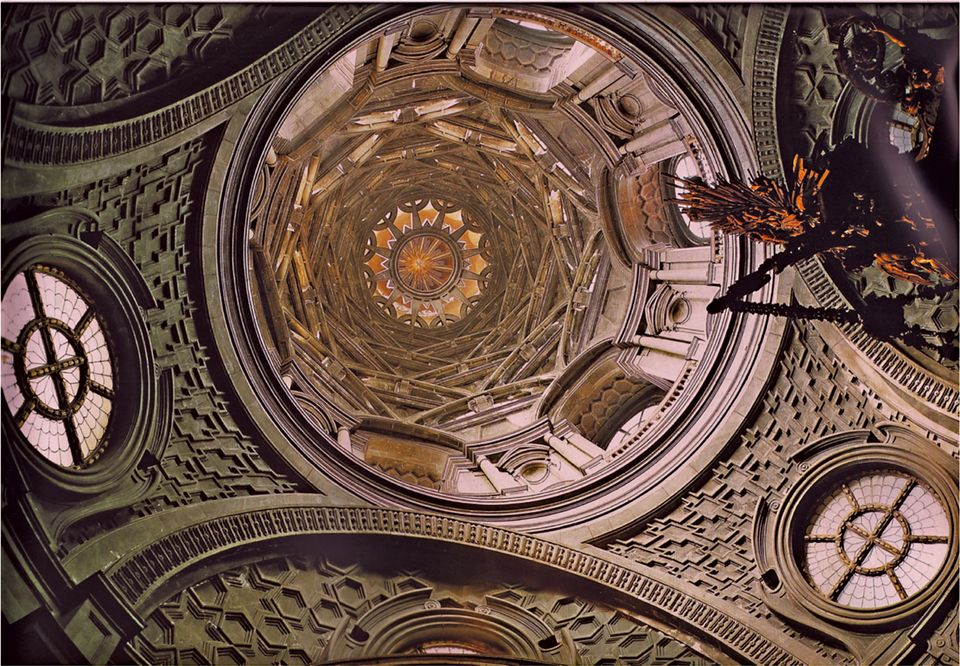 Guarino Guarini's dome is extraordinarily complex, standing without support