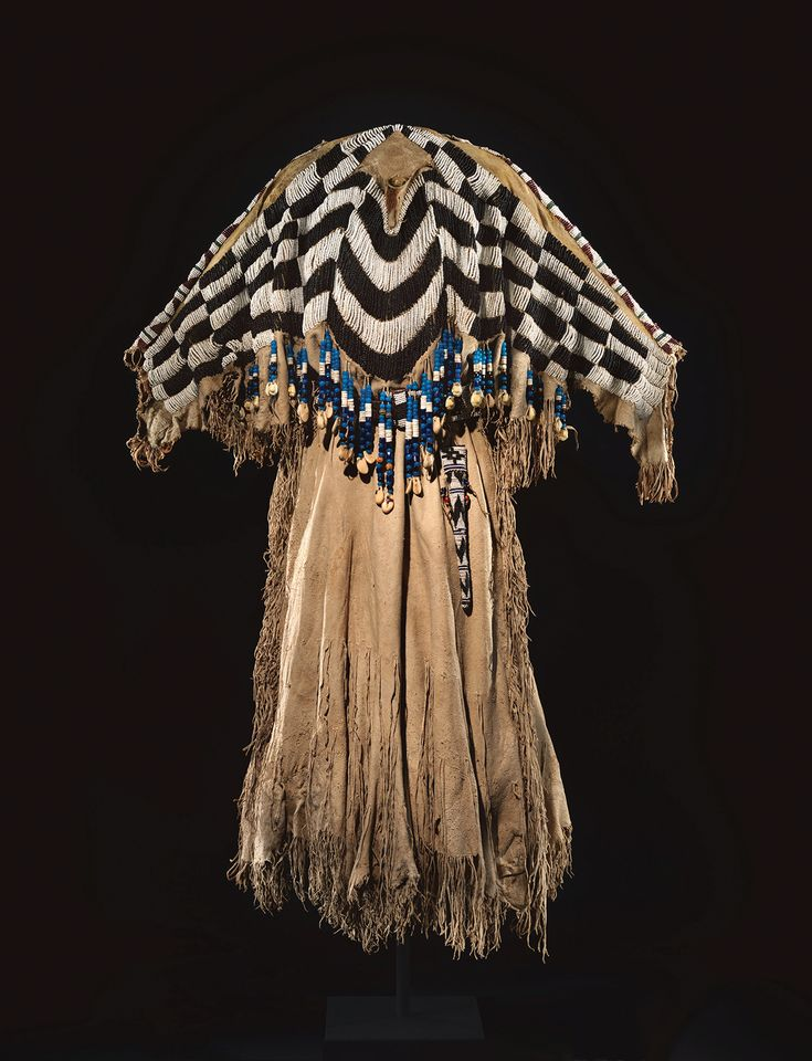 This Wasco tribe dress (around 1870) was one of Charles and Valerie Diker's prized possessions