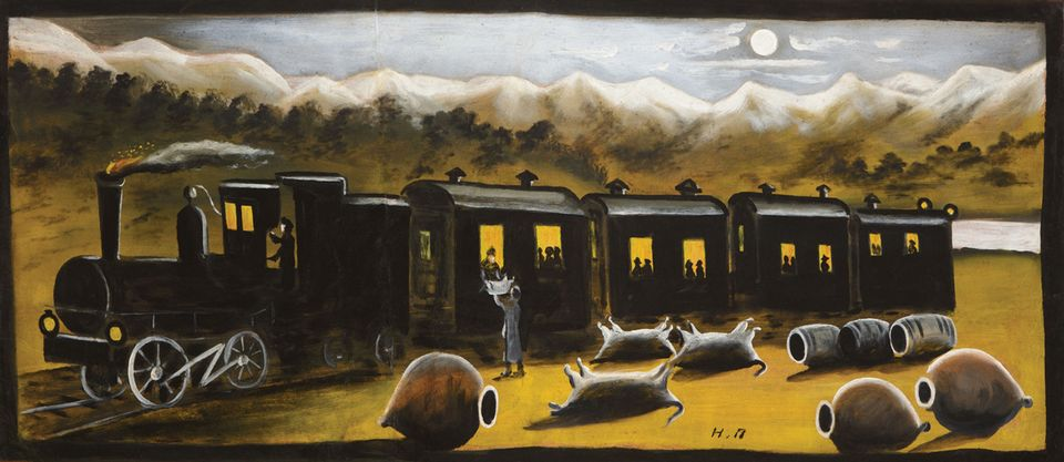 The Kakhetian Train (around 1895-1918). The artist's works can command sizeable sums at auction