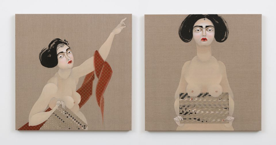 Hayv Kahraman, The Appeal 11 and The Appeal 12 (2018)