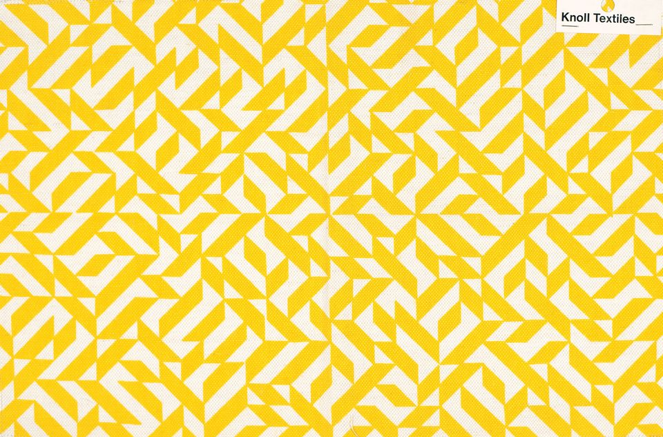 Anni Albers's Eclat pattern, first made in collaboration with Knoll in the 1970s, is still available today