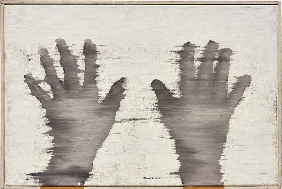 """Gerhard Richter, Hände (1963). Phillips, London, 5 October: 20th Century and Contemporary Art Evening Sale, estimate  £2m-£3m. This oil painting by the German artist Gerhard Richter is one of more than 150 works from the estate of the TV and film rights negotiator and art collector Howard Karshan that Phillips will offer across a series of sales in London and New York. Cheyenne Westphal, the Phillips chairman, says Karshan had """"a keen eye for acquiring works on paper, the majority of which capture the intimacy and unique sensibility of drawing."""" She describes this work as """"a striking early piece from Richter's photorealist paintings of the 1960s."""" In his lifetime, Karshan bought several works by Richter, among them a later abstract oil painting called Busch (1985) (est £800,000-£1.2m) also offered in this sale."""