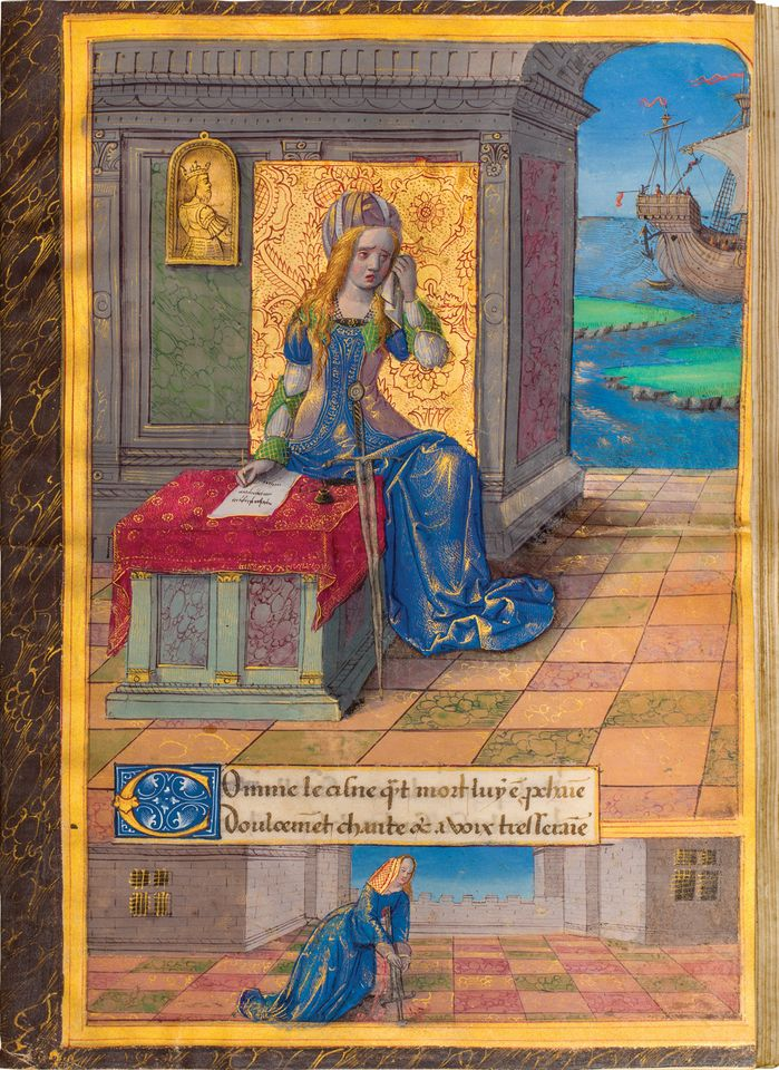 Octovien de Saint-Gelais, Epistres d'Ovide (around 1493) Dr Jörn Günther Rare Books, Tefaf New York, 28-30 October €1.2m. This collection of Ovid's Heroides, translated into French for a teenaged Anne of Brittany, queen consort of France, includes the epic tales of Ariadne, Dido and Oenone written from their perspectives as women suffering cruel fates wrought by greedy men. Anne, too, was despairing of her destiny after being forced to marry Charles VIII in order to secure the annexation of Brittany, which inspired Saint-Gelais to create this singular compilation, including eight full-page illuminations by the Master of the Chronique scandaleuse, one of which portrays Anne surrounded by her ladies in waiting. After passing privately through the hands of renowned medievalist collectors like Charles Stein and Comte Albert de Naurois, the manuscript makes its market debut at Tefaf.