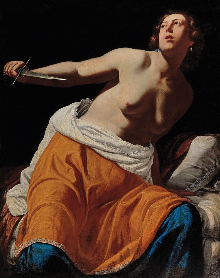 "Artemisia Gentileschi, Lucretia (around 1630s-40s).  Dorotheum, Vienna, 23 October: Old Master Paintings, estimate €500,000-€700,000. Never before publicly exhibited, this painting by Artemisia Gentileschi (1593-1654) comes to auction for the first time, consigned from a private European collection. Gentileschi was one of the very few female Italian Baroque painters and her often violent depictions of strong female protagonists from classical mythology have led her to become an Old Master poster girl for the #MeToo era. In July, London's National Gallery bought Gentileschi's Self-Portrait as Saint Catherine of Alexandria (around 1615-17) for £3.6m from the London-based dealer Robilant + Voena. The estimate is, says Mark MacDonnell of Dorotheum, ""very prudent, but not reflective of its commercial value which we expect to be much higher""."