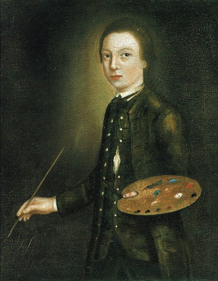 A self-portrait of the artist aged 12 (around 1739-40), attributed to Thomas Gainsborough