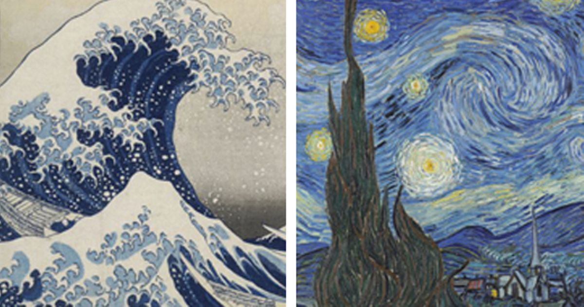 Did Hokusai's Great Wave inspire Van Gogh's Starry Night?