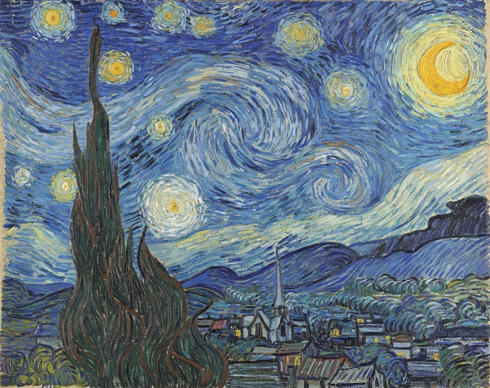 Van Gogh, Starry Night (painting), June 1889, Museum of Modern Art, New York