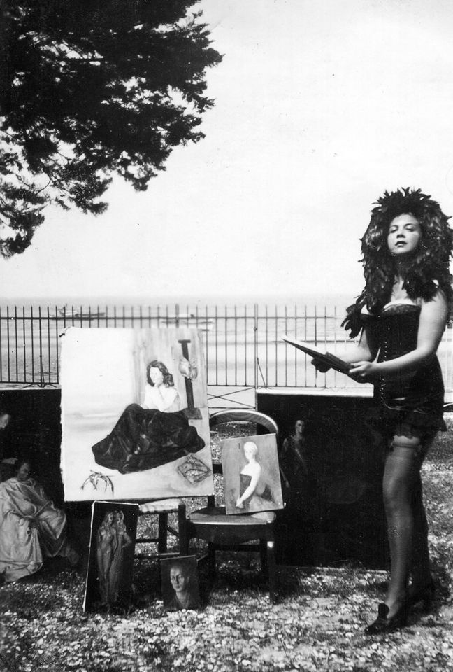 Leonor Fini in Arcachon, France, in 1940