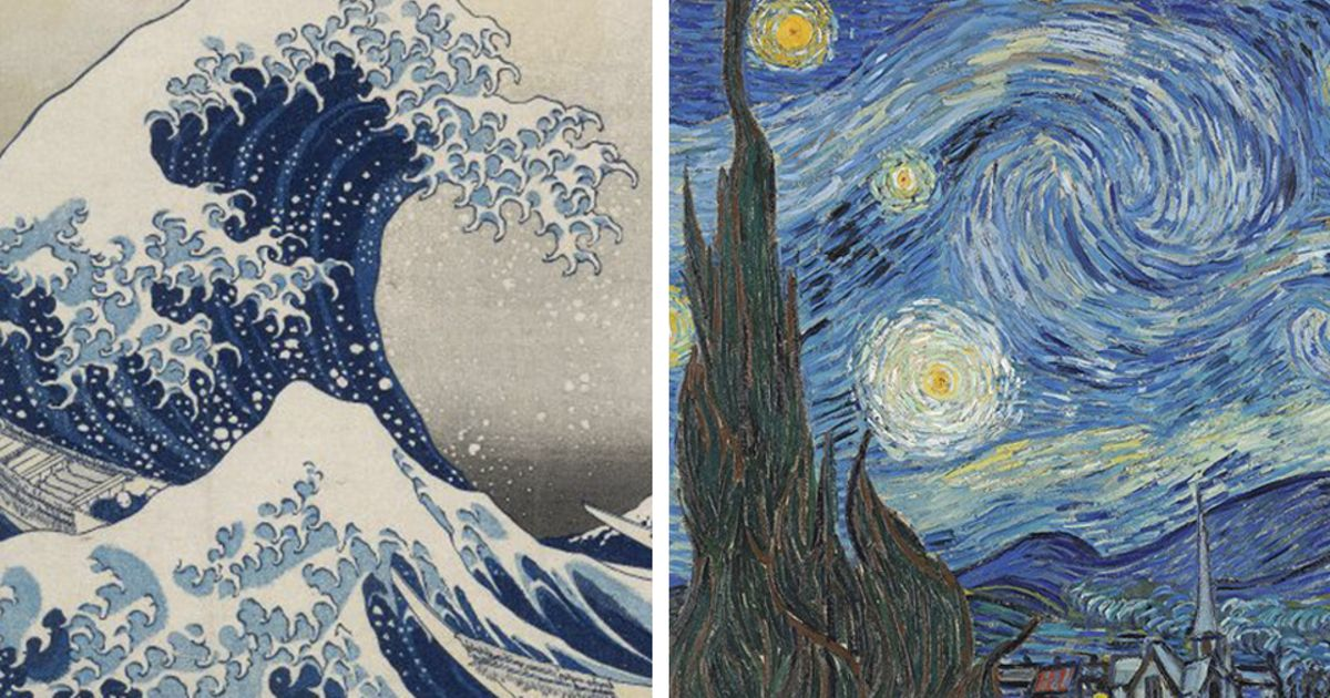 How Van Goghs Starry Night Was Inspired By Hokusais Great Wave