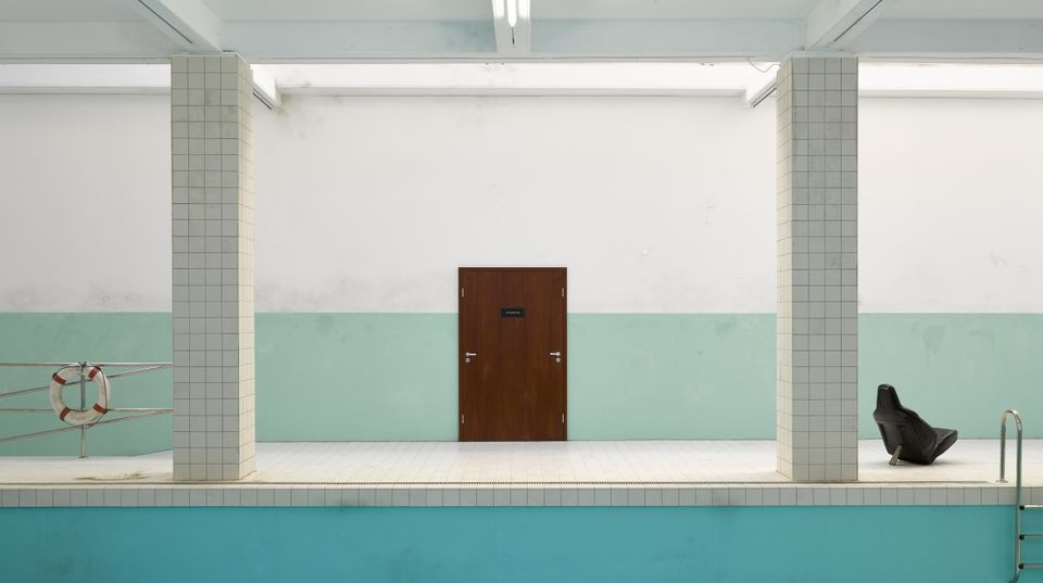 Installation view of Elmgreen & Dragset's Whitechapel Pool