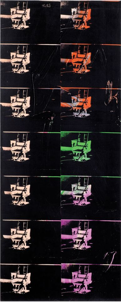 Andy Warhol's 14 Small Electric Chairs (1980)