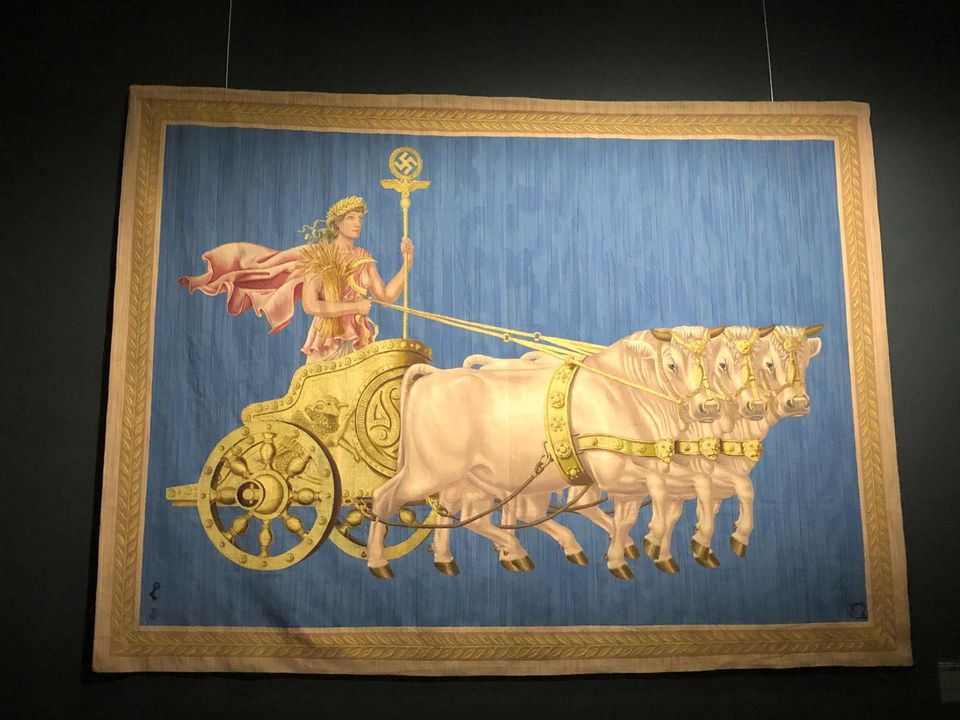 Walter Peiner's tapestry Die Fruchtbarkeit (Fertility), commissioned for the official residence of the Nazi Foreign Minister Joachim von Ribbentrop in Berlin