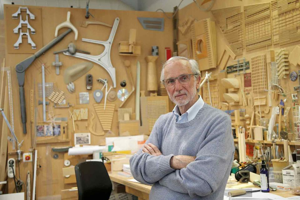 Italian architect Renzo Piano in his workshop in Paris, France