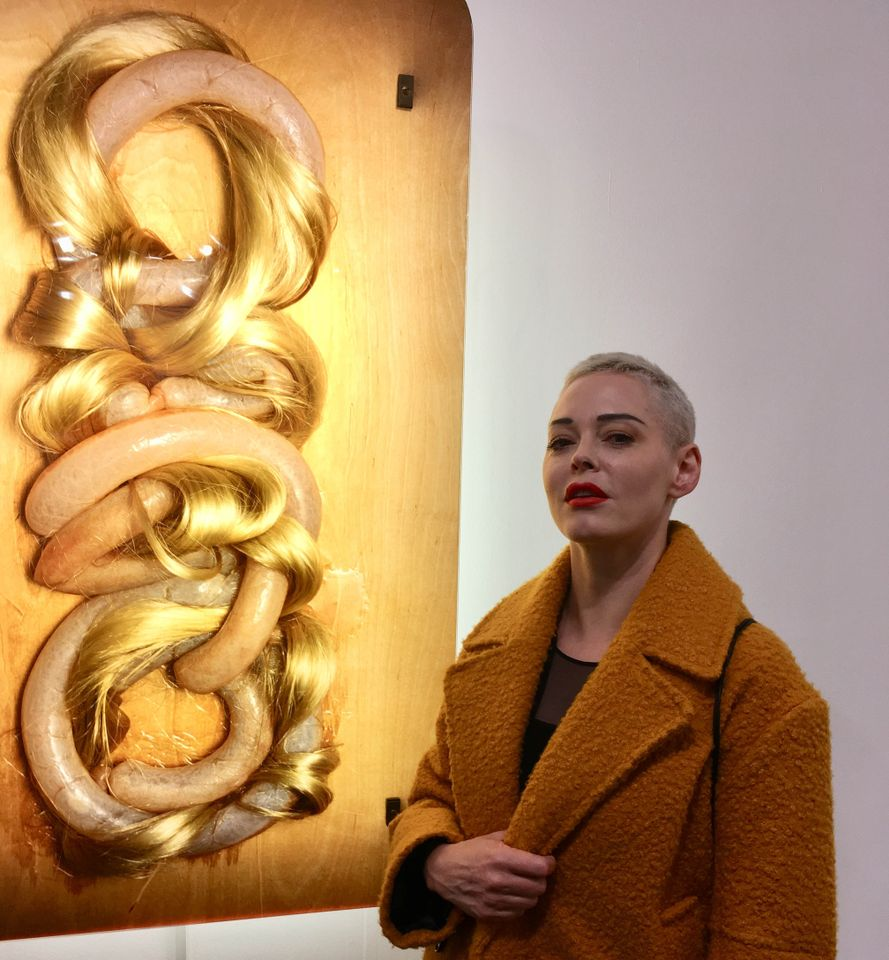 Rose McGowan at Frieze, on  the first anniversary of #MeToo